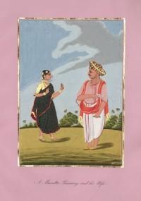 Company School Maler - Ein Maratha-Brahmane und seine Frau