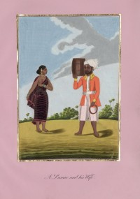Company School Maler - Ein Laskar (Soldat) und seine Frau