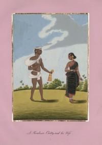 Company School Maler - Ein Poovaloor-Chettiar und seine Frau