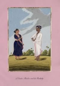 Company School Maler - Ein Hindu-Barbier und seine Frau