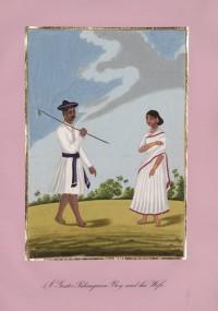 Company School Maler - Ein Sänften-Begleiter und seine Frau