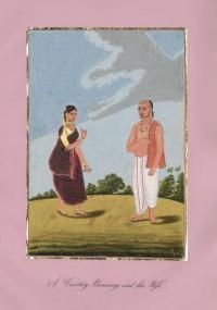 Company School Maler - Ein Vishnu-Brahmane aus Karnataka