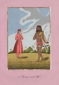 Company School Maler - Ein Bairāgi-Asket und seine Frau
