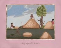 Company School Maler - Dreschen des Reises und Schätzung der Ernte