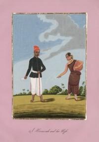 Company School Maler - Ein Hircarrah-Bote und seine Frau
