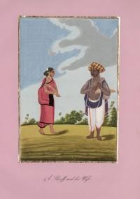 Company School Maler - Ein Shroff und seine Frau