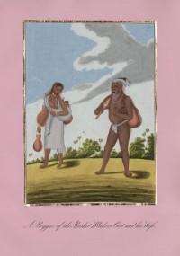 Company School Maler - Ein Bettler aus der Korbmacherkaste und seine Frau