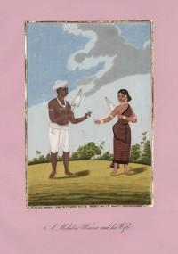 Company School Maler - Ein Spinner von der Malabarküste und seine Frau