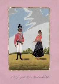 Company School Maler - Ein Soldat des Raja von Tanjore und seine Frau