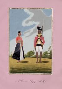 Company School Maler - Ein indischer Grenadier und seine Frau
