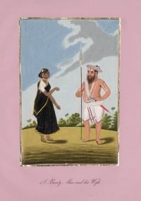 Company School Maler - Ein Maratha-Krieger und seine Frau