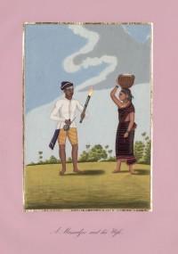 Company School Maler - Ein Fackelträger und seine Frau