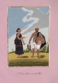 Company School Maler - Ein Hindu- oder Gentoo-Händler und seine Frau