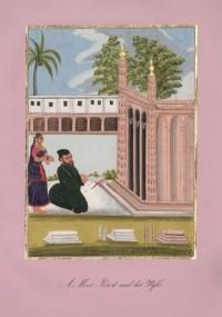 Company School Maler - Ein islamischer Imam vor einem Sufi-Schrein