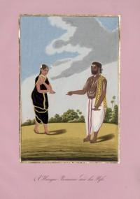 Company School Maler - Ein Verwaltungsbrahmane und seine Frau