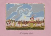Company School Maler - Srirangam. Prozession mit Oberpriester
