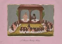 Company School Maler - Unterweisung durch einen Brahmanen