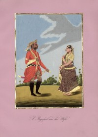 Company School Maler - Ein Rajput und seine Frau