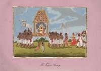 Company School Maler - Der Tanjore-Swami wird durch die Stadt getragen