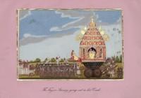 Company School Maler - Der Tempelwagen des Tanjore-Swami wird durch die Stadt gezogen