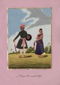 Company School Maler - Ein Mann aus Bengalen und seine Frau
