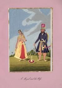 Company School Maler - Ein Moghul und seine Frau