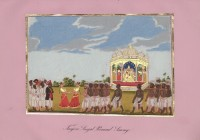 Company School Maler - Singal-Permaul-Swami (Götterbild) aus Tanjore