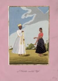 Company School Maler - Chobdar oder Stockträger