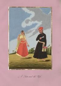 Company School Maler - Ein einheimischer Schreiber und seine Frau