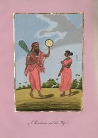 Company School Maler - Ein Pandaram und seine Frau