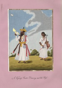 Company School Maler - Ein Trepathy Dasari (Bettelmönch) und seine Frau