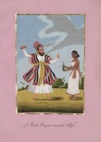 Company School Maler - Ein Hindu-Gaukler und seine Frau