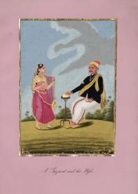 Company School Maler - Ein Mann aus Gujarat und seine Frau