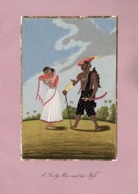 Company School Maler - Ein Gooty-Peon und seine Frau