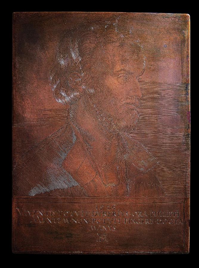 Dürer, Albrecht - Kupferstichplatte mit dem Bildnis Philipp Melanchthons